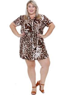 Vestido Feminino Estampa Onça Plus Size Marisa