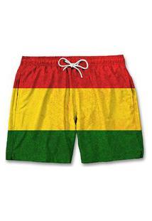 Bermuda Masculino Short Moda Praia Tactel Verão - Reggae