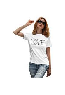 Camiseta Feminina Mirat Love Bones Branco