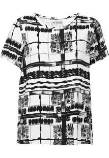 Camiseta Triton Geométrica Branca - Kanui