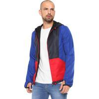 c6435efbc0e5c Jaqueta Calvin Klein Jeans Recortes Azul Vermelha