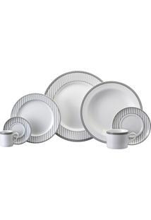 Aparelho De Jantar, Chá E Café Porcelana Schmidt 42 Peças - Dec. Aline
