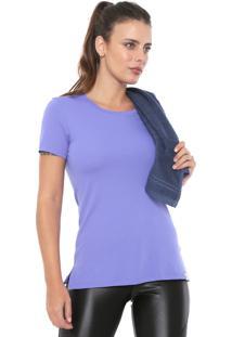 Camiseta Alto Giro Lisa Azul