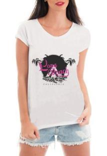 Camiseta Criativa Urbana Litoral Praia - Feminino-Branco
