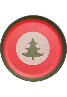Prato Para Sobremesa ÁRvore- Vermelho & Verde- Ø20Cmcromus