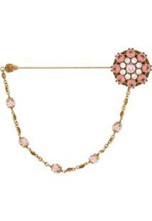 Dolce & Gabbana Broche Com Aplicação De Cristais - Dourado