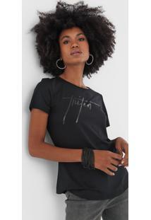 Camiseta Triton Lettering Preta