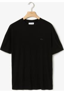 Camiseta Lacoste Logo Preta - Kanui