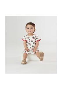 Vestido Com Body Em Cotton Up Baby Vermelho