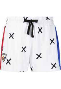 Rossignol Bermuda Esportiva Com Estampa De Cruz - Branco