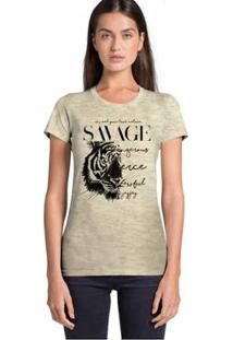 Camiseta Joss Savage Feminina - Feminino-Bege