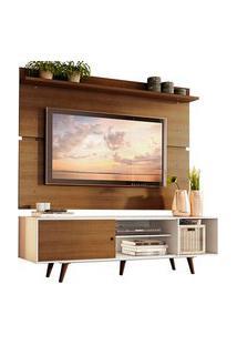 Rack Madesa Dubai E Painel Para Tv Até 65 Polegadas Com Pés Branco/Rustic 9B5Z Cor:Branco/Rustic