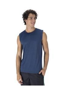 Camiseta Regata Oxer Básica Mescla - Masculina - Azul Mescla