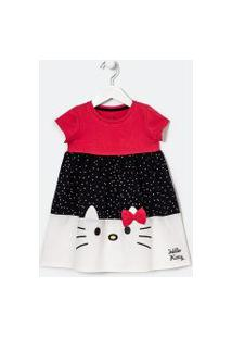 Vestido Infantil Estampa Hello Kitty - Tam 1 A 6 Anos | Hello Kitty | Multicores | 5-6