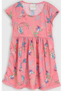 Vestido Molekada By Rangel Infantil Sereia Rosa