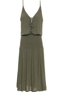 Vestido Decote Amarração - Verde