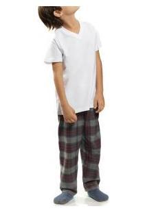 Pijama Longo Masculino Lupo Kids (20026-001) Algodão