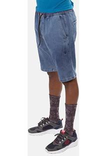 Bermuda Jeans Ecko K150A Masculina - Masculino-Azul