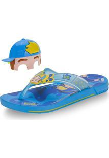 Chinelo Luccas Neto Mask Grendene Kids - 22274 Azul/Vermelho 23/24