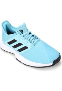 Tênis Adidas Gamecourt Masculino - Masculino-Azul Claro+Preto