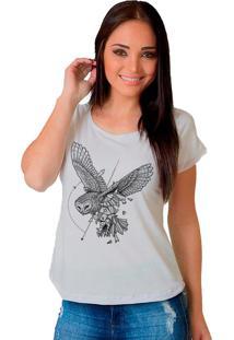 Camiseta Shop225 Coruja Geometrica Branco