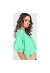 Camiseta Forum Mangas Bufantes Verde