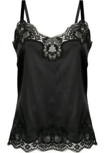 Dolce & Gabbana Camisola Com Acabamento Em Renda - Preto