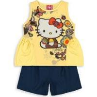 86fe97e8e9 Conjunto Bebê Hello Kitty Feminina - Feminino