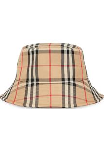Burberry Chapéu Com Estampa Vintage Check - Neutro