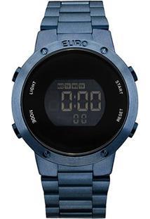 Relógio Euro Digital Fashion Fit Feminino - Feminino-Azul