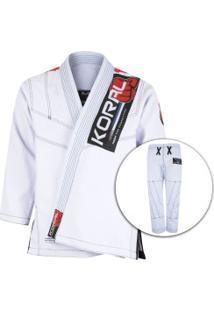 Kimono Jiu-Jitsu Koral Mkm Competition 2018 - Adulto - Branco