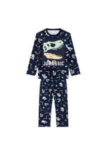 Pijama Infantil Kyly Jurassic Preto