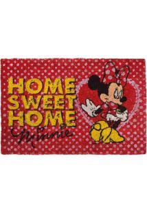 """Capacho Minnieâ® """"Home Sweet Home""""- Vermelho & Amarelo"""