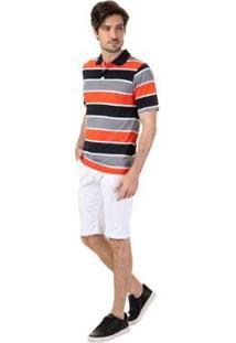 Bermuda Color Chico Slim Masculina - Masculino-Branco