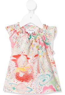 Bonpoint Graphic Print Sleeveless Blouse - Rosa