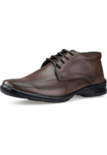 Sapato Botinha Social Conforto Neway Antistress Capuccino