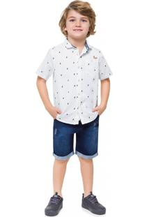 Camisa Infantil Menino Milon Branco