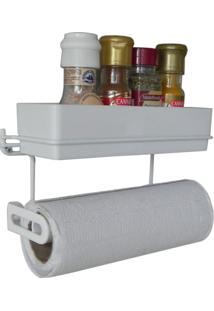 Porta Temperos E Papel Toalha - Suporte Para Condimentos E Papel Toalha