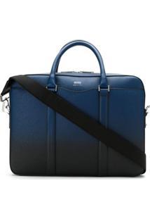 Boss Hugo Boss Bolsa Para Notebook De Couro - Azul