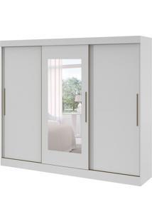 Guarda-Roupa Casal Montebello 3Pt 6Gv Com Espelho Branco