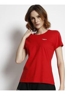 "Camiseta ""Fearless""- Vermelha & Branca- Coca-Colacoca-Cola"