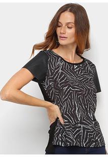 Camiseta Acostamento Estampada Feminina - Feminino-Verde Claro