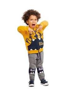 Calça Infantil Jogging Com Aplique Zig Zig Zaa Masculina - Masculino