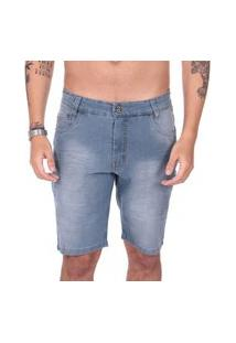 Bermuda Jeans Calfin City Recorte Bolso