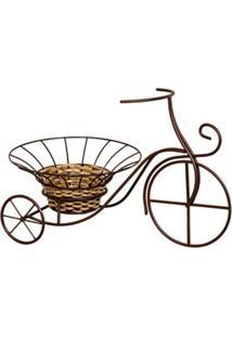 Bicicleta Decorativa Com Cachepot Classic Marrom