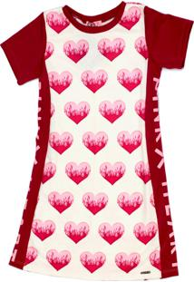 Vestido Pinkx De Moletom Estampado Off White Com Recorte Na Lateral Pink