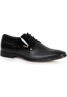 Sapato Social Rafarillo Texturizado Preto