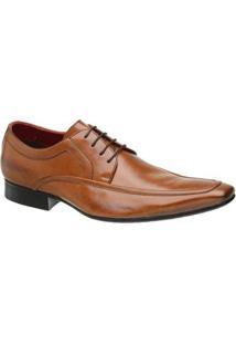 Sapato Masculino Social Malbork Couro Caramelo Sola Couro 406 - Masculino-Caramelo