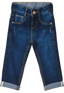 Calça Jeans Skinny Menino Malwee Kids Azul Escuro - 4