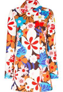 Moncler Jaqueta X Richard Quinn Goldy Com Estampa Floral - Branco